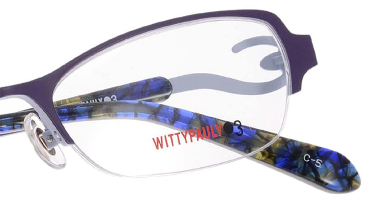 ウィッティポーリー03 03-210-5 [メタル/ハーフリム/スクエア/紫]  4