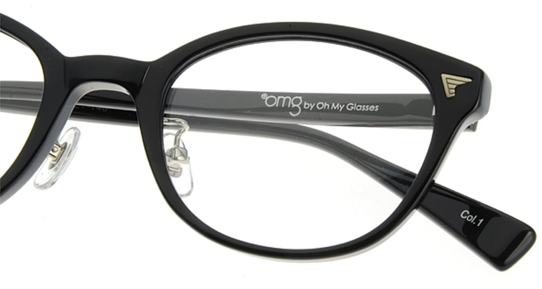 プラスオーエムジー ベース ティム omg-021-1 [黒縁/丸メガネ/安い]  4