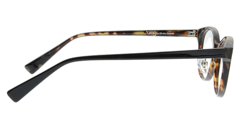 プラスオーエムジー ベース ティム omg-021-2 [黒縁/丸メガネ/安い]  1