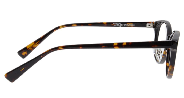 プラスオーエムジー ベース エイミー omg-024-1 [丸メガネ/安い/茶色]  1