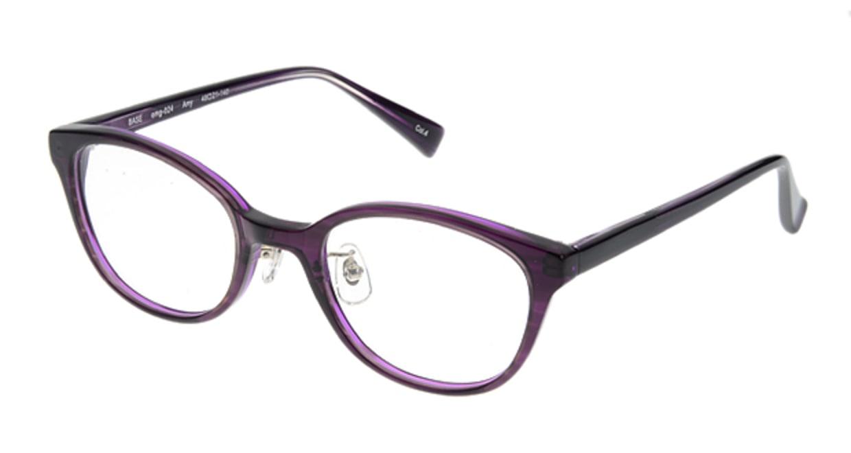 プラスオーエムジー ベース エイミー omg-024-4 [丸メガネ/安い/紫]