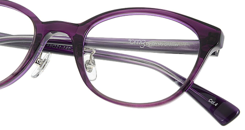 プラスオーエムジー ベース エイミー omg-024-4 [丸メガネ/安い/紫]  4