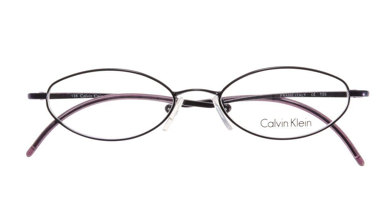 カルバンクライン CK411-505 [メタル/オーバル/紫]  3