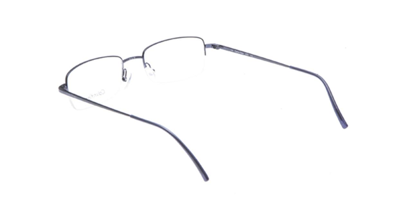 カルバンクライン CK430-515 [メタル/ハーフリム/スクエア/青]  2