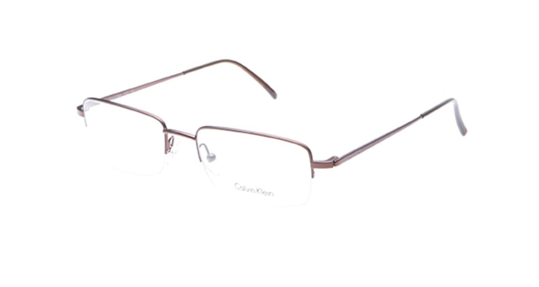 カルバンクライン CK430-551 [メタル/ハーフリム/スクエア/茶色]