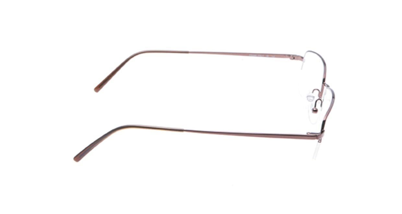カルバンクライン CK430-551 [メタル/ハーフリム/スクエア/茶色]  1