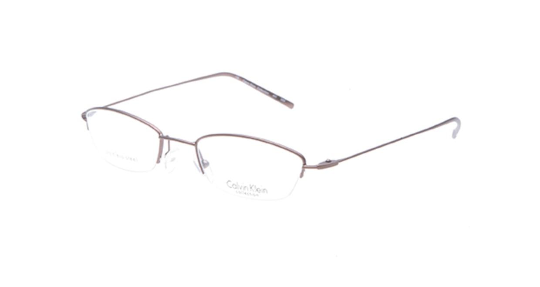 カルバンクライン CK441-555 [メタル/ハーフリム/スクエア/茶色]