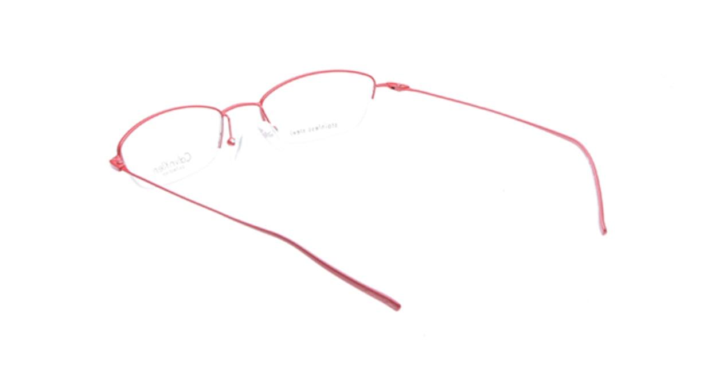 カルバンクライン CK441-584 [メタル/ハーフリム/スクエア/赤]  2