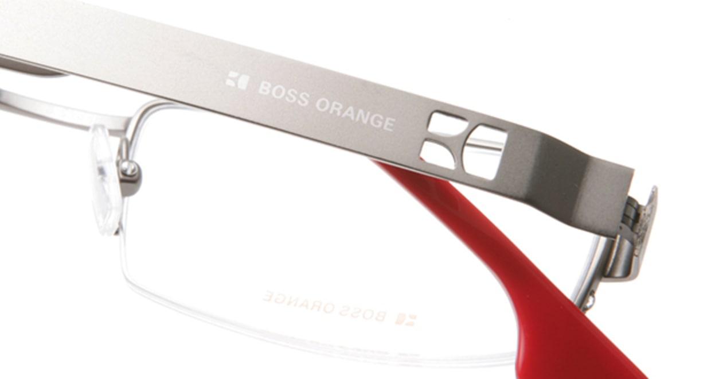 ボスオレンジ BO-0007-R80 [メタル/ハーフリム/スクエア/シルバー]  4