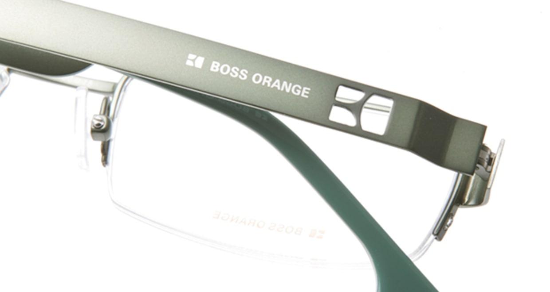 ボスオレンジ BO-0007-SHL [メタル/ハーフリム/スクエア/緑]  4