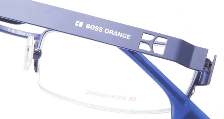ボスオレンジ BO-0007-SI1 [メタル/ハーフリム/スクエア/青]  4