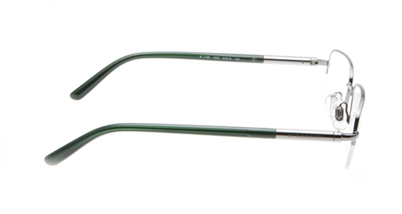 バーバリー BB1196-1003 [メタル/ハーフリム/スクエア/シルバー]  1