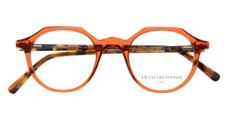フランソワ パントン PASSEPORT38-PD86 [丸メガネ/オレンジ]  3