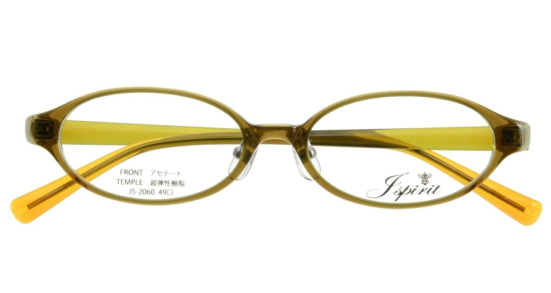 ジェイスピリット JS-2060-7 [鯖江産/オーバル/茶色]  3