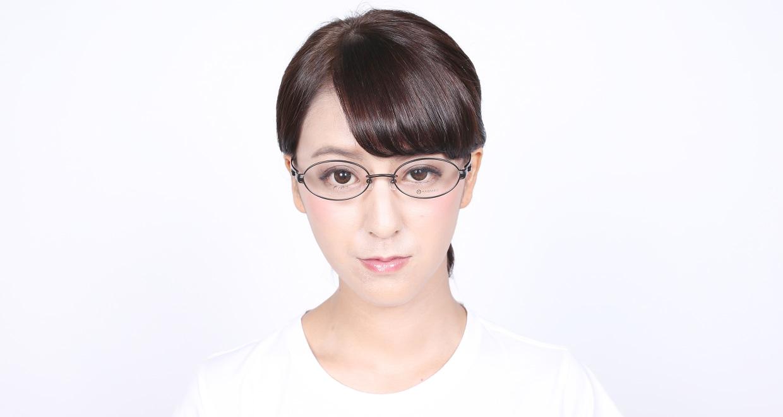 アミパリ TS-5110-4 [メタル/鯖江産/オーバル/茶色]  5