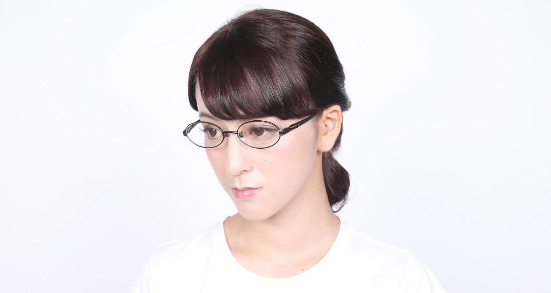 アミパリ TS-5110-4 [メタル/鯖江産/オーバル/茶色]  6
