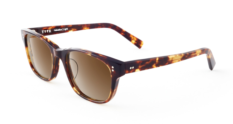 TYPE Helvetica Light-Tortoise Sunglasses [ウェリントン]  2
