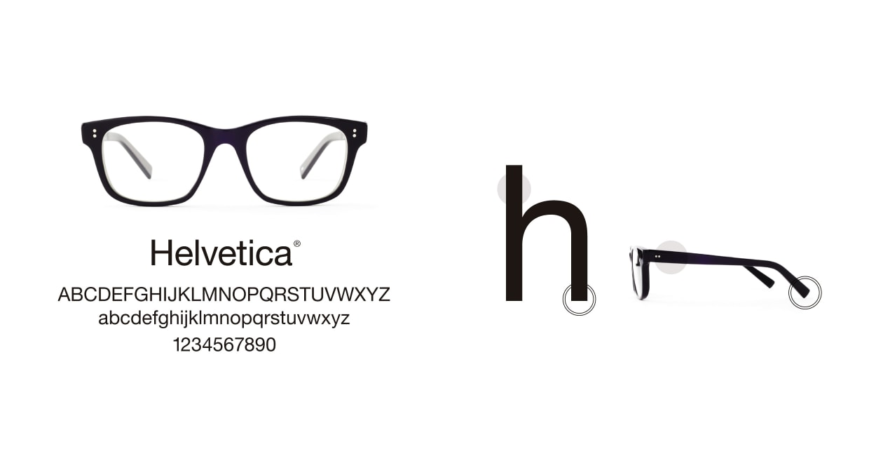 TYPE Helvetica Regular-Black Sunglasses [ウェリントン]  3