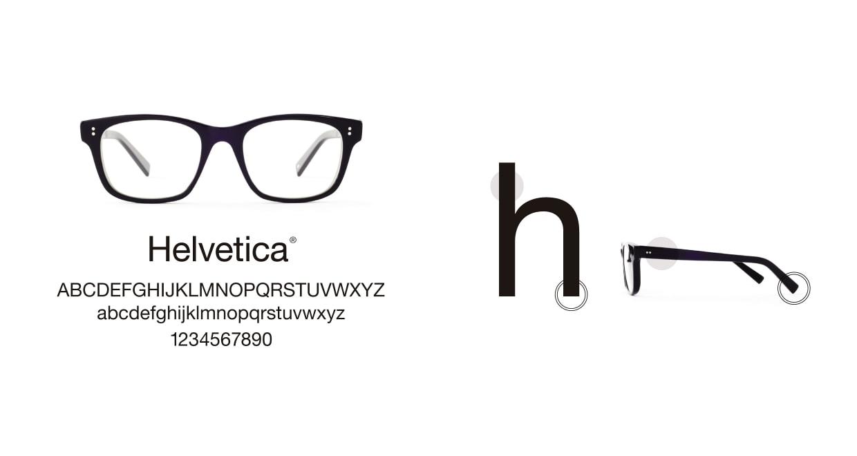 TYPE Helvetica Bold-Black [黒縁/ウェリントン]  3