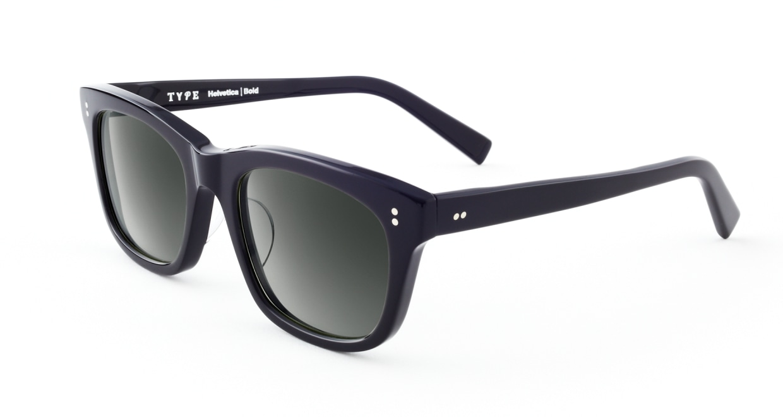 TYPE Helvetica Bold-Black Sunglasses [ウェリントン]  2