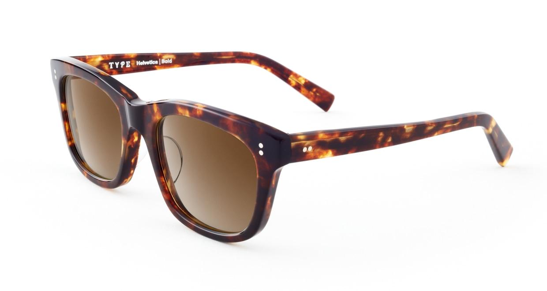 TYPE Helvetica Bold-Tortoise Sunglasses [ウェリントン]  2