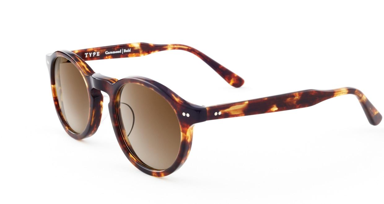 TYPE Garamond Bold-Tortoise Sunglasses [ラウンド]  2