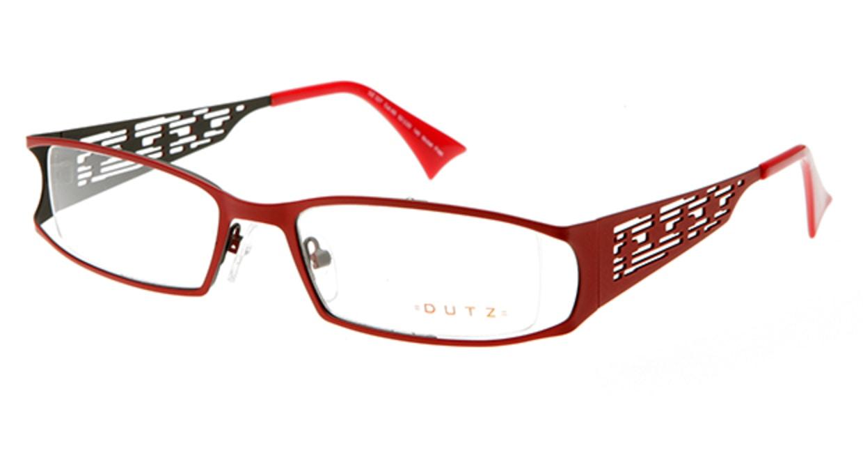 ダッツ DZ227-65 [メタル/ハーフリム/スクエア/赤]