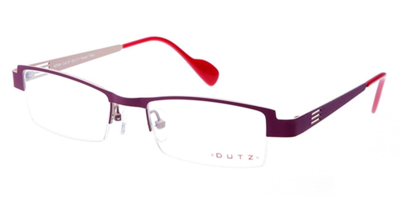 ダッツ DZ309-75 [メタル/ハーフリム/スクエア/紫]