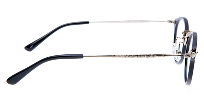 プラスオーエムジー ニュートラッド ルーク omg-025-1 [黒縁/丸メガネ]  1