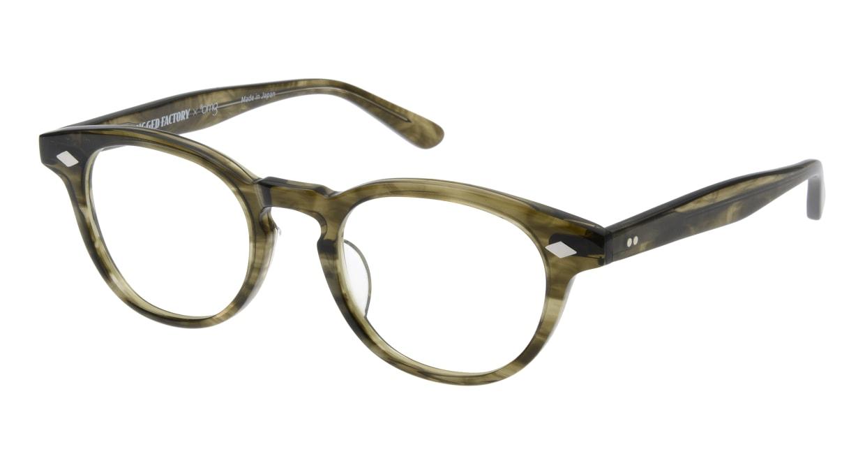 ラギッドファクトリー×プラスオーエムジー RF-001-5 [丸メガネ/安い/緑]