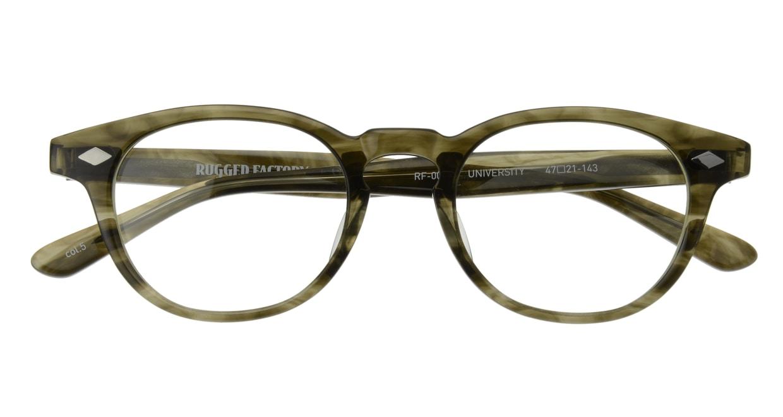 ラギッドファクトリー×プラスオーエムジー RF-001-5 [丸メガネ/安い/緑]  3