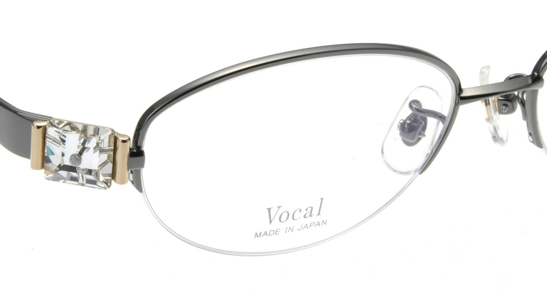 ヴォーカル VO-707-C-4-53 [メタル/ハーフリム/オーバル/グレー]  4