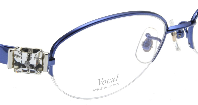 ヴォーカル VO-707-C-5-53 [メタル/ハーフリム/オーバル/青]  4