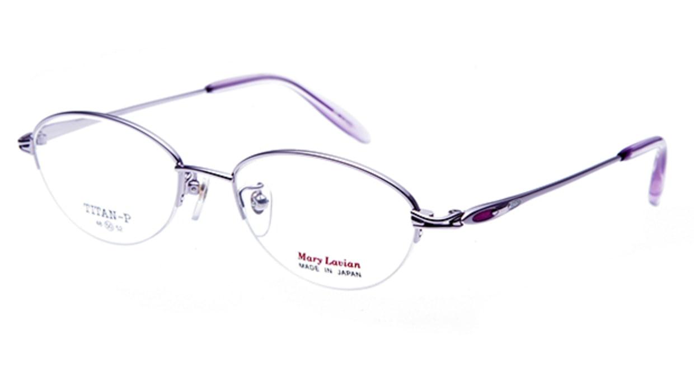 マリーラビアン ML-855-C-4-50 [メタル/ハーフリム/オーバル/紫]