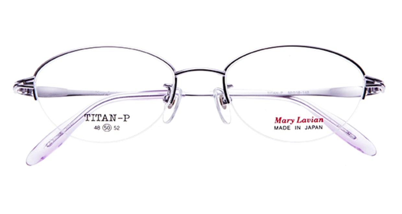 マリーラビアン ML-855-C-4-50 [メタル/ハーフリム/オーバル/紫]  3