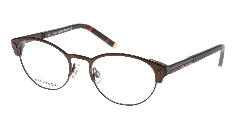 ディースクエアード DQ5032-45 フルリム 茶色 フレーム  メガネのオーマイグラス_0