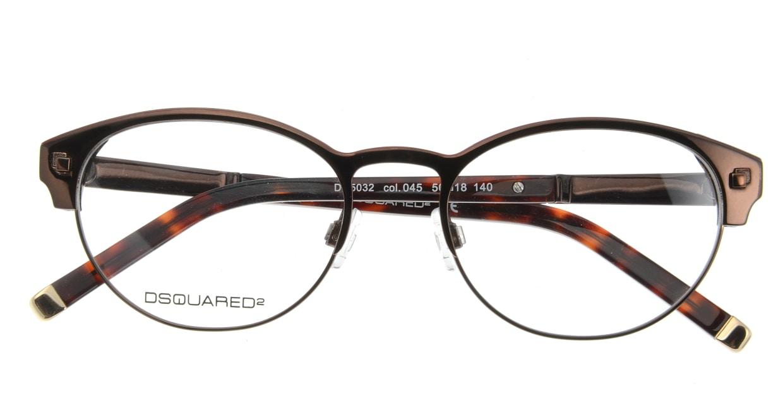 ディースクエアード DQ5032-45 フルリム 茶色 フレーム  メガネのオーマイグラス_3