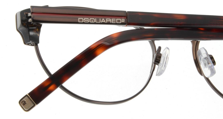ディースクエアード DQ5032-45 フルリム 茶色 フレーム  メガネのオーマイグラス_4