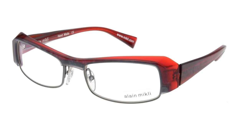 アランミクリ AL0661-18 フルリム 赤 フレーム  メガネのオーマイグラス_0
