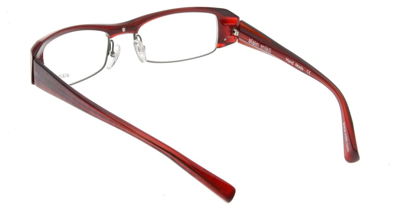 アランミクリ AL0661-18 フルリム 赤 フレーム  メガネのオーマイグラス_2