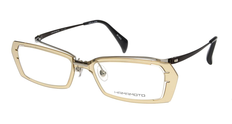 ハマモト HT-052-1 フルリム 茶色 フレーム  メガネのオーマイグラス_0