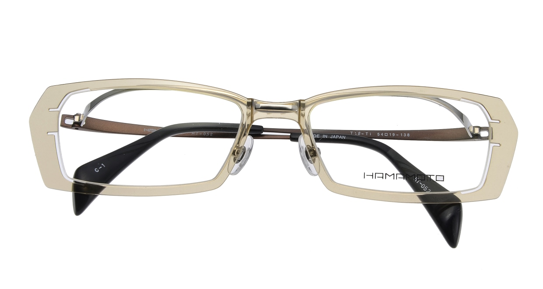 ハマモト HT-052-1 フルリム 茶色 フレーム  メガネのオーマイグラス_3