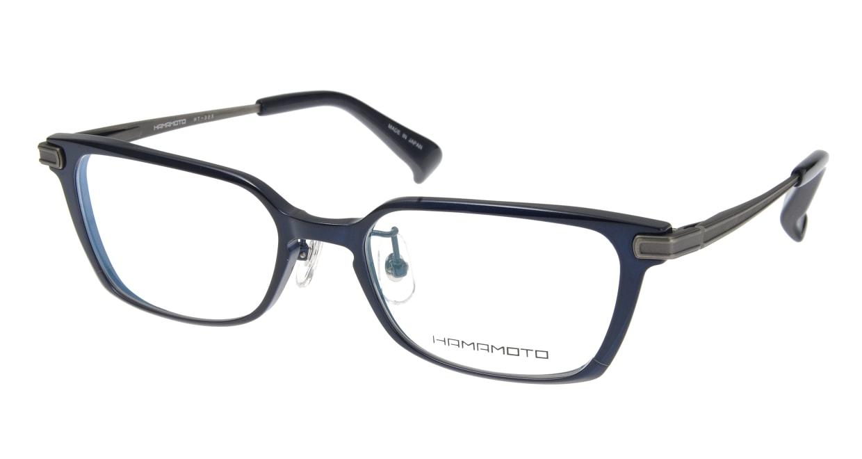 ハマモト HT-305-4 [メタル/ウェリントン/青]