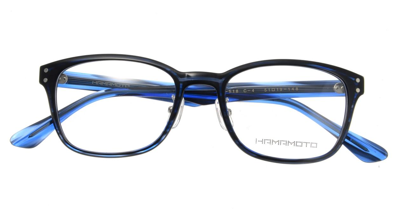 ハマモト HT-518-4 [鯖江産/ウェリントン/青]  3