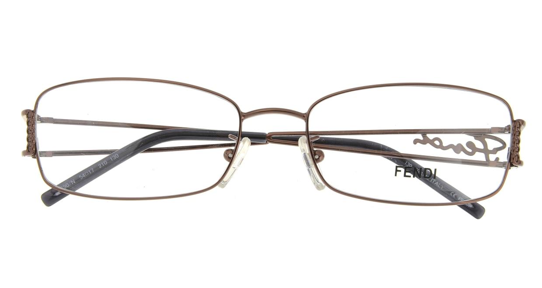 フェンディ 690-N-210 [メタル/スクエア/安い/茶色]  3