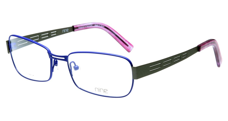 ナイン 1844-PUB フルリム 紫 フレーム  メガネのオーマイグラス_0