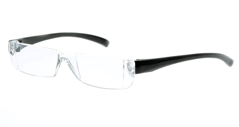 カルルック リーディンググラス +2.0 black [老眼鏡/鯖江産/スクエア/安い/透明]