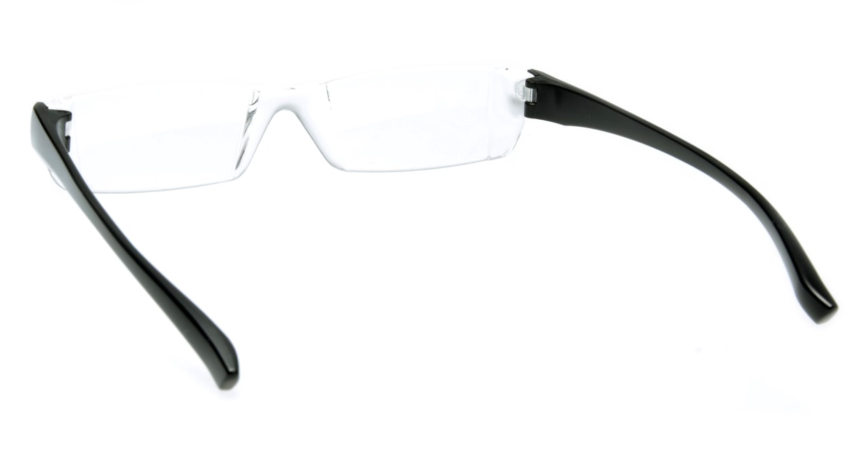 カルルック リーディンググラス +2.0 black [老眼鏡/鯖江産/スクエア/安い/透明]  2