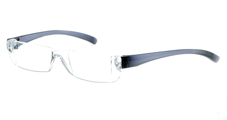 カルルック リーディンググラス +2.0 gray [老眼鏡/鯖江産/スクエア/安い/透明]