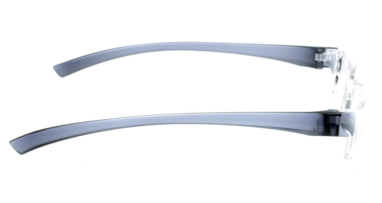 カルルック リーディンググラス +2.0 gray [老眼鏡/鯖江産/スクエア/安い/透明]  1